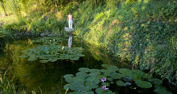 Pond at In Sabina Summer Yoga Retreat in Italy