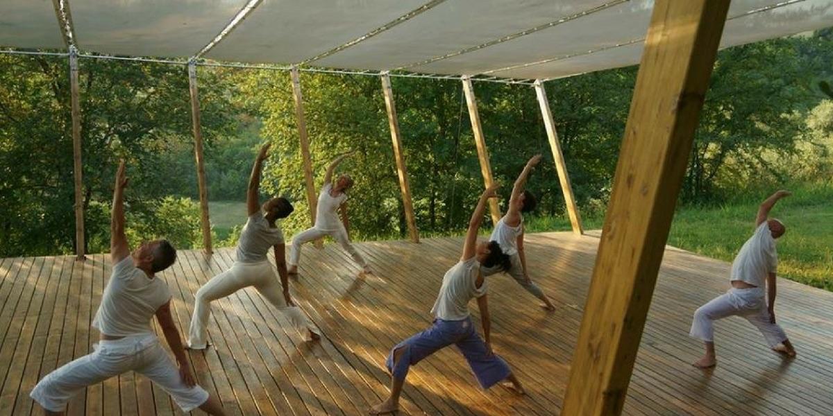 Open Air Yoga Platform at In Sabina Estate, Italy