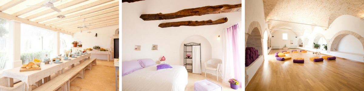 Yoga Retreat Italy in Puglia at La Rosa dei 4 Venti Accommodation